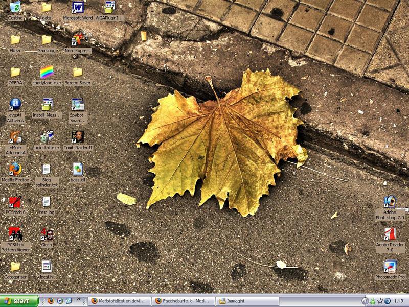 My desktop by Mefistofelicat