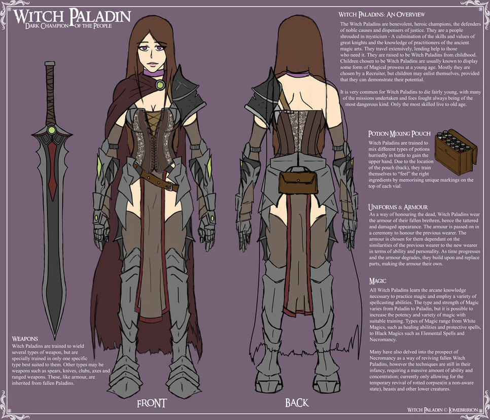 Witch Paladin - Reference by Lomebririon