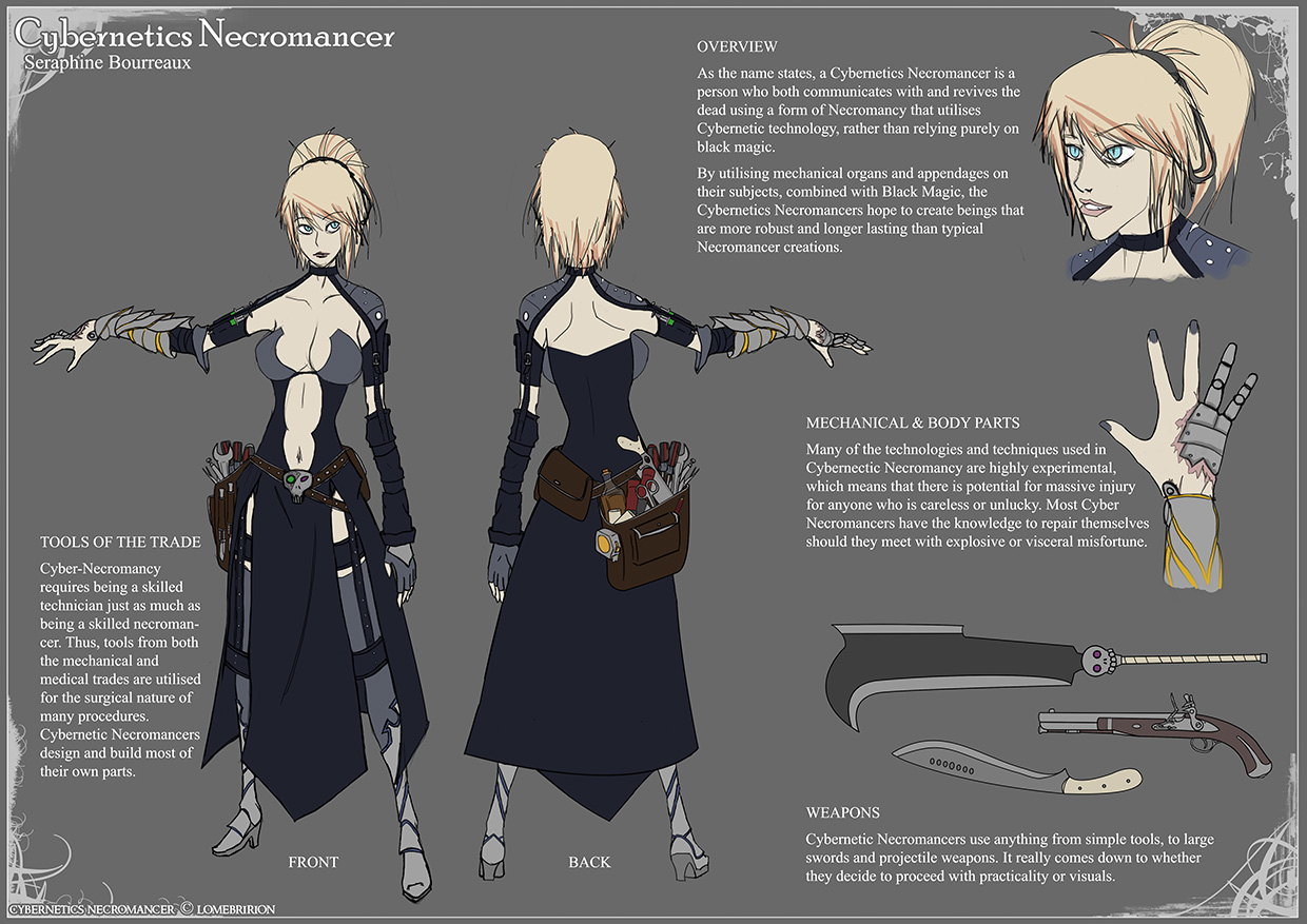 Cybernetics Necromancer by Lomebririon