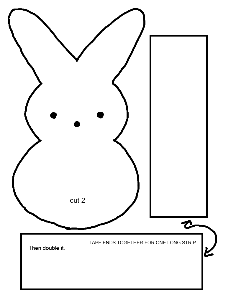 bunny template for sewing peep bunny pattern by rainbowplushies on deviantart
