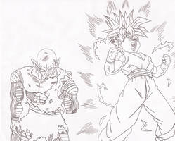 DBZ request  (Gohans Transformation) by superheroarts