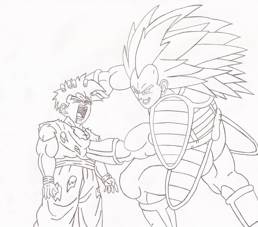 DBZ request. SSJ Raditz vs Gohan by superheroarts on ... - photo#19