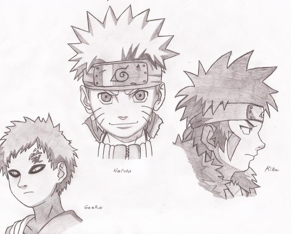 Naruto characters drawing