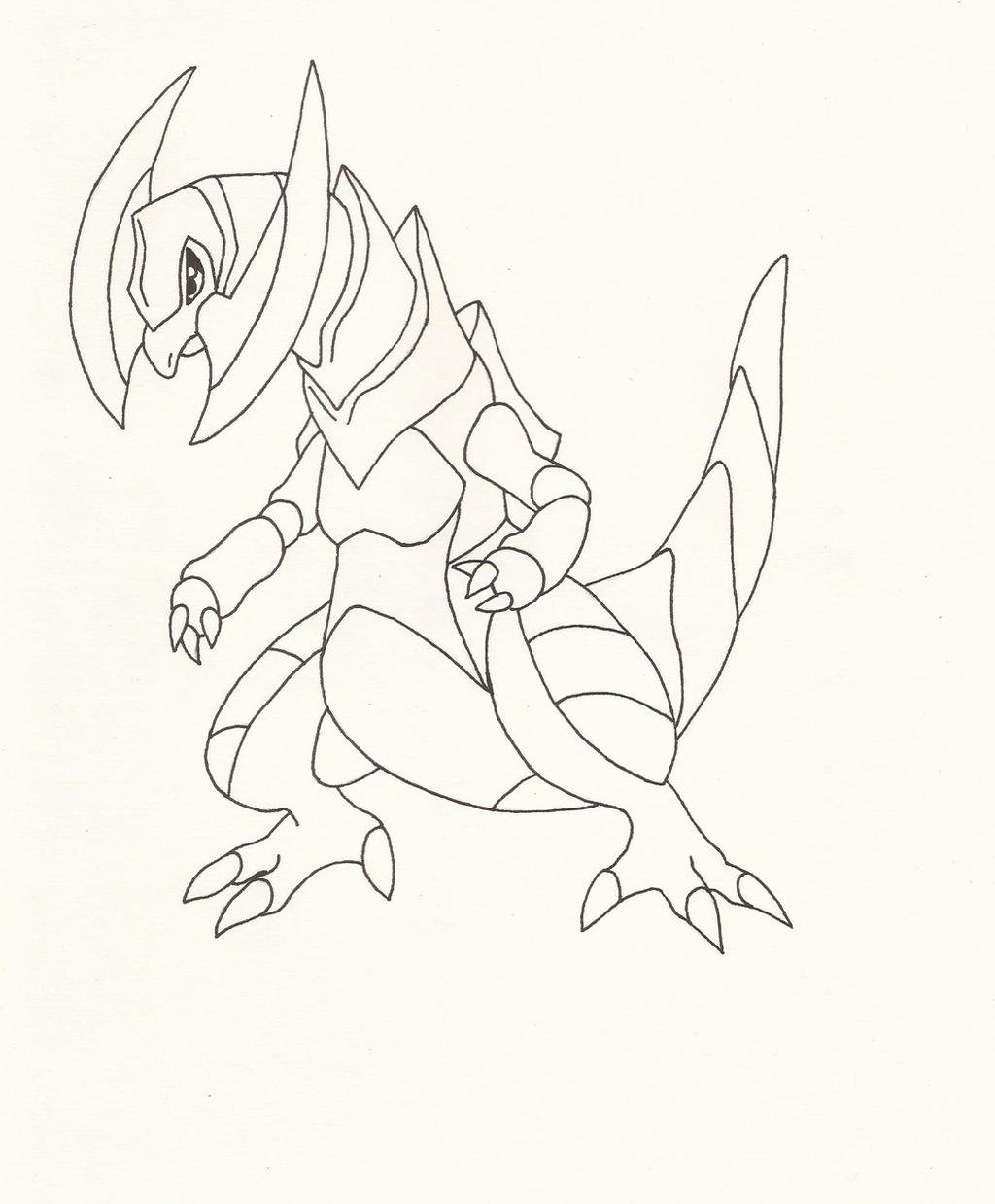 Haxorus coloring pages - Pokemon Haxorus By Superheroarts Manga Anime Digital Media Drawings