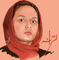 Portrait of Taraneh Ali Doosti - Persian Actress by SyedJeem