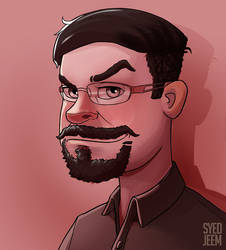 Art Style Study Turned Self Portrait by SyedJeem