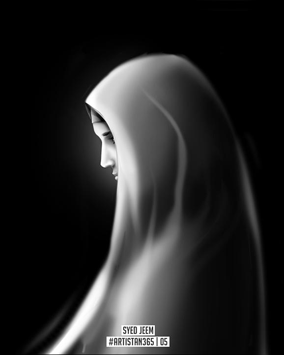 Hijab (Veil) - 5/365  |  #Artistan365 by SyedJeem