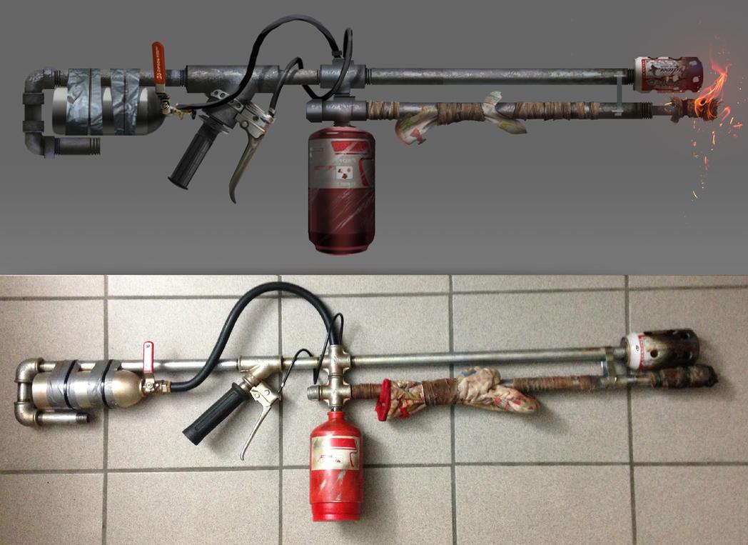 Как сделан самодельный огнемет