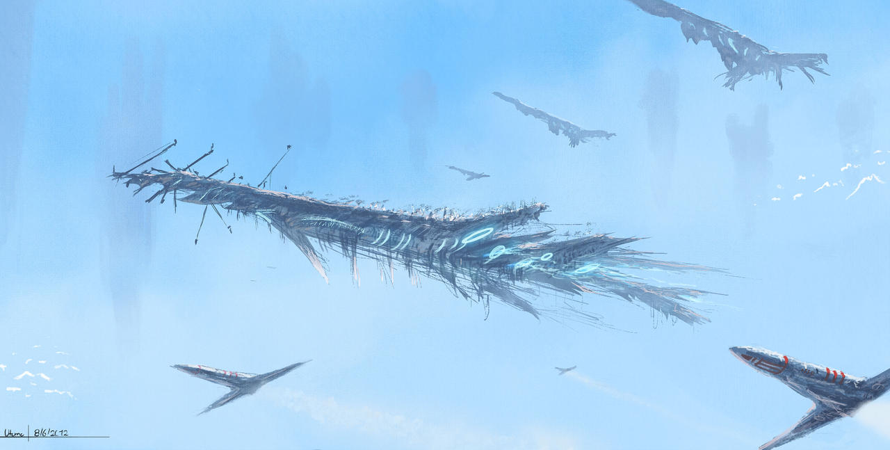 Massive Airship by Juhupainting