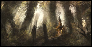 Elven Temple by Juhupainting