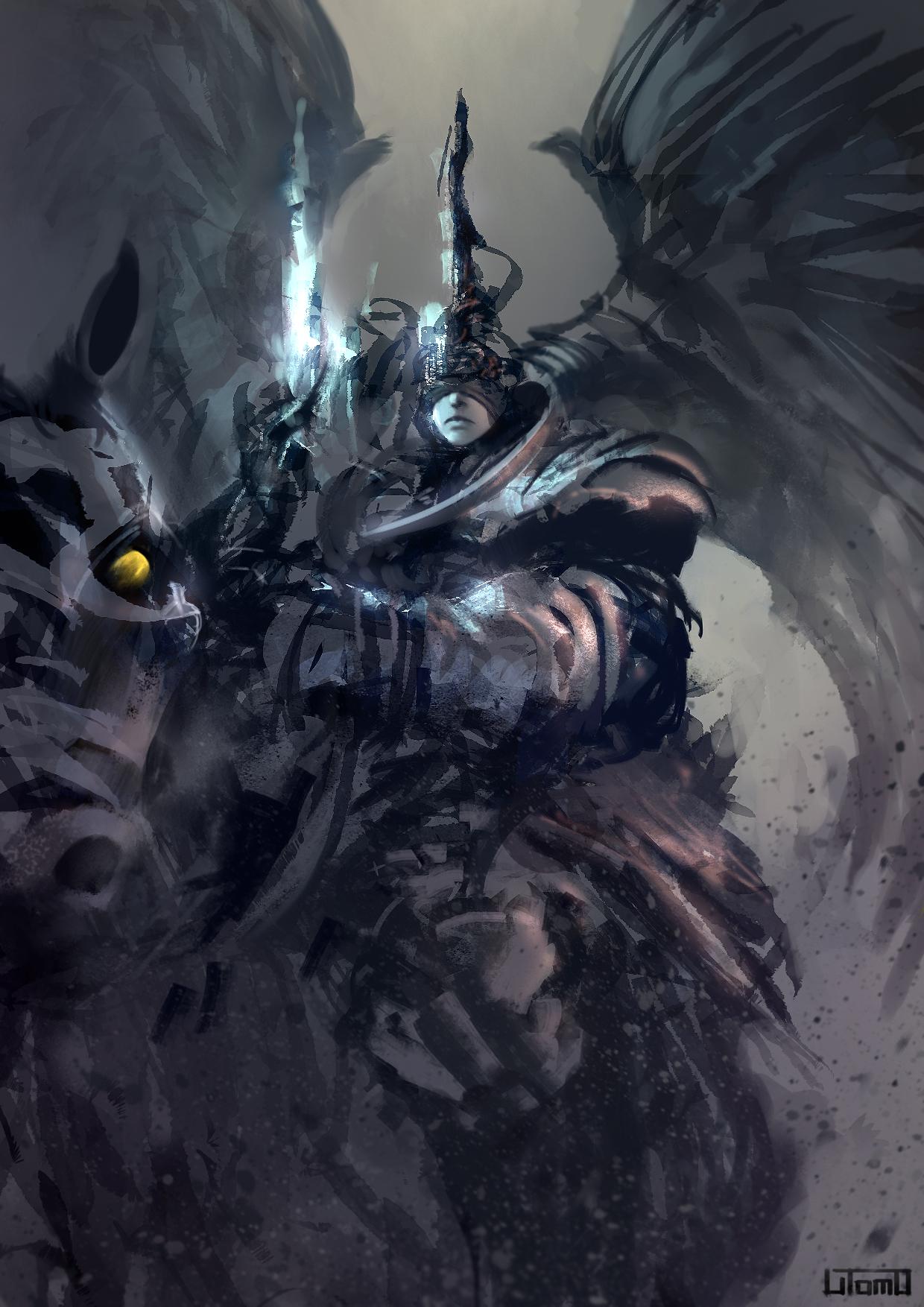 Dark Angel Rider by Juhupainting on DeviantArt