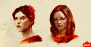 Facestudies by Juhupainting