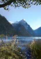 Newzealandmountainsstudy by Juhupainting