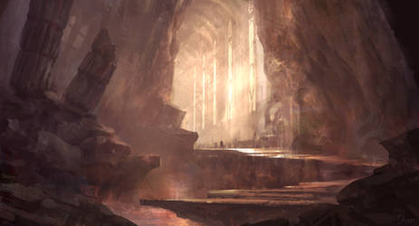 Halls of.... by Juhupainting