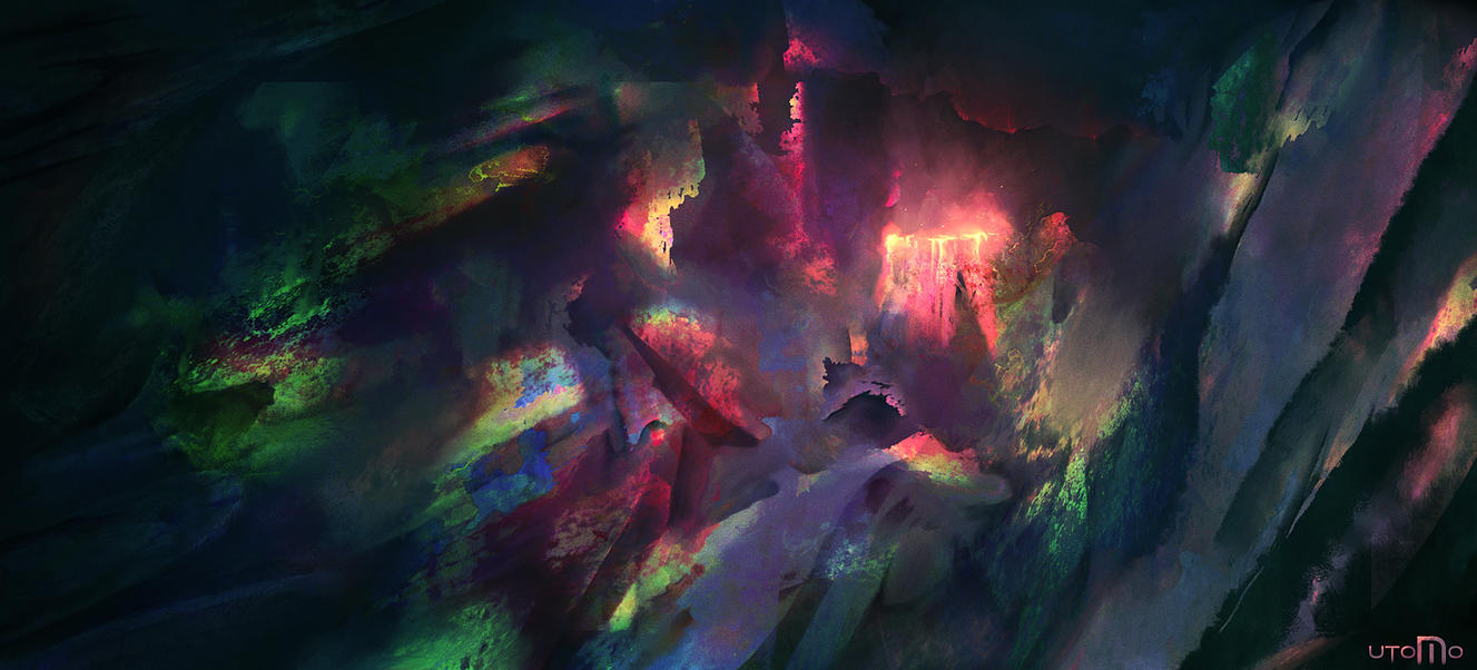 Abstract Volcano by Juhupainting
