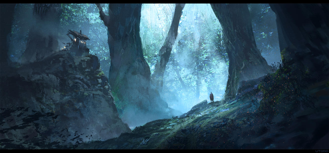 Floresta dos pesadelos Paintics_challenge__mystic_forest_outpost_by_juhupainting-d6y5ywm