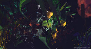 3 x flowers by Juhupainting
