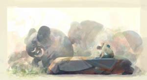 Elephant Dream by Juhupainting