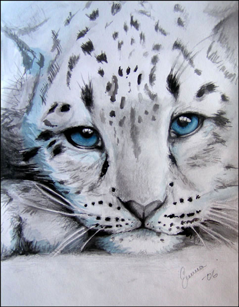 snow leopard cub by makebelief