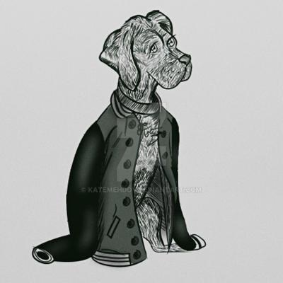 Detail cartoon doggo by KateMehDoy