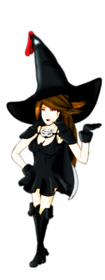 Agnes Oblige Black Mage Colored Fanart