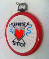 Sprite Stitch Heart Logo by Blackmageheart