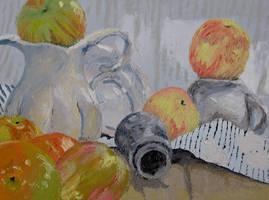 Pallet Knife Still Life by greymattre