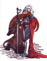 Knight of Swords - WIP by greymattre