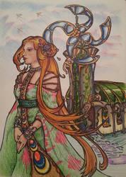 Windmills and Pretty Girls by greymattre