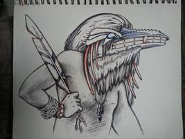 WIP - Raven Mask - Help! Please critique! by greymattre