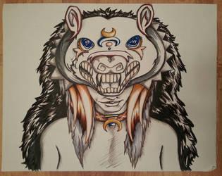 Shaman Portraits: Bear by greymattre
