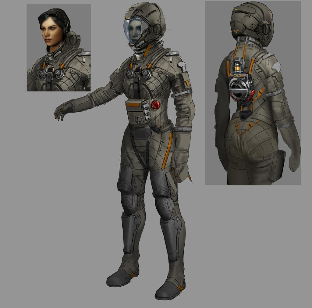 Spacesuit by carlo arellano on deviantart for Female space suit