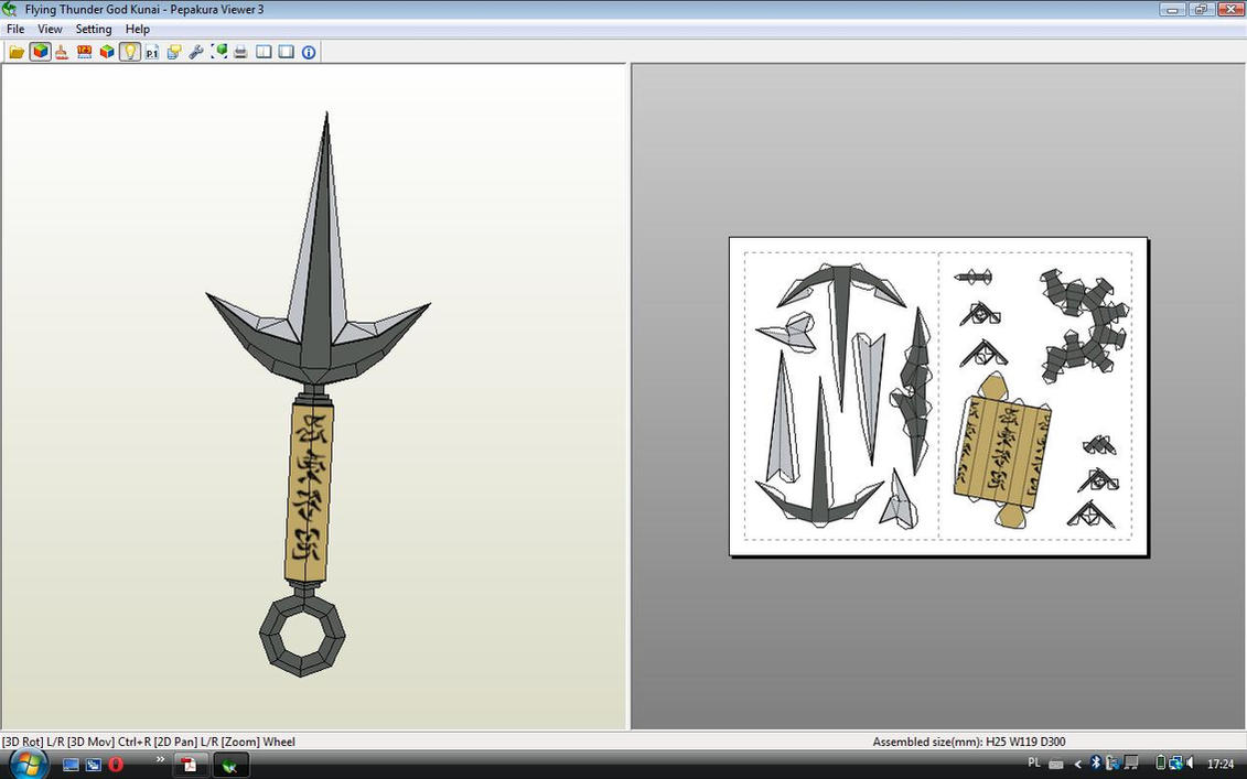 Flying Thunder God Kunai Papercraft