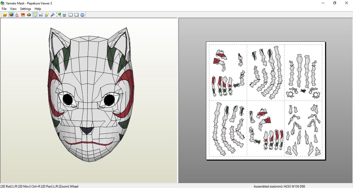 Yamato Mask Papercraft [DOWNLOAD] by SIBOR270898