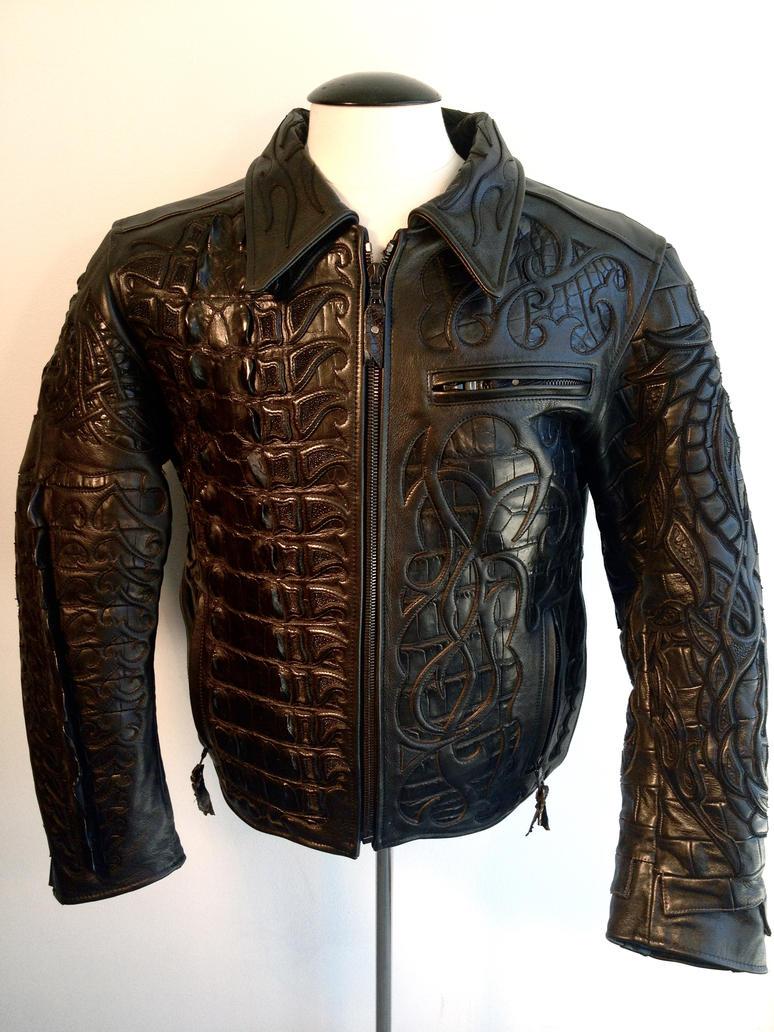 Alligator leather jackets