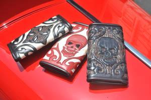 Biker wallets by Logan Riese