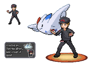 Ready to Battle - Trainer Nathan Sprite by TheCynicalPoet