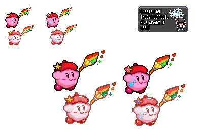 Being Creative - Artist Kirby Sprite by TheCynicalPoet