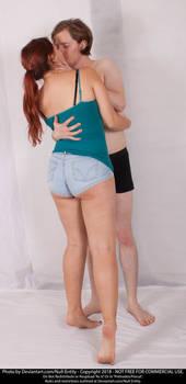 Couple Standing Kiss 01
