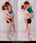 Couple Kiss (Lift) 02