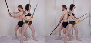 Duo Sword Stances (Back To Back) 02