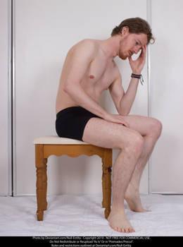 Sitting Thinking Stock