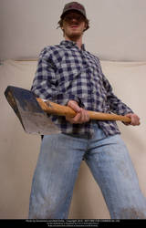 Axe Man Foreshortening 04 by Null-Entity