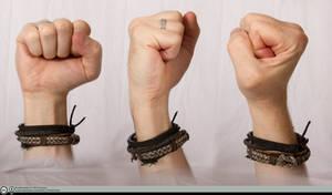 Hand Refernce - Raised Fist