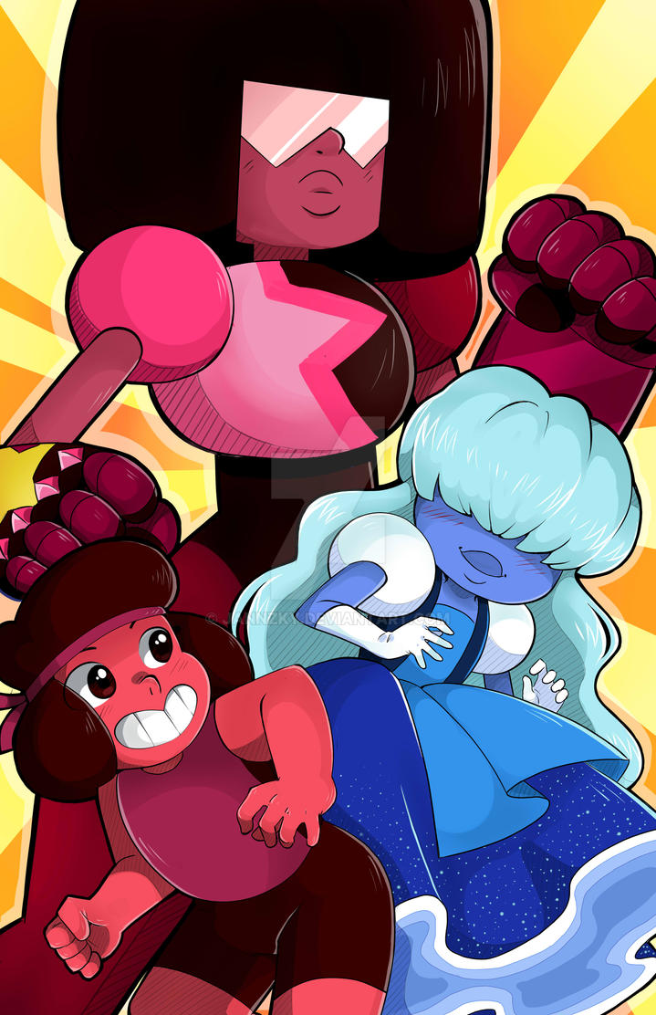 Ruby And Sapphire w/garnet by Jannzky