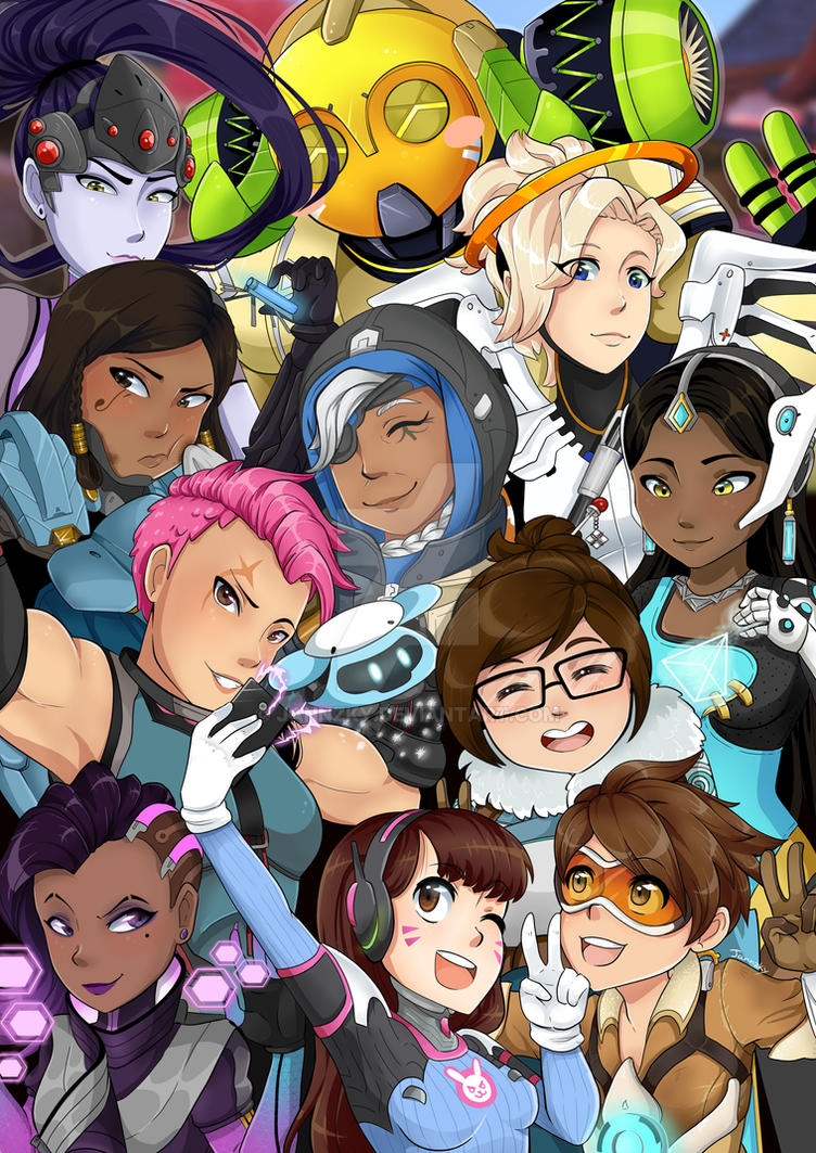 Overwatch gals by Jannzky