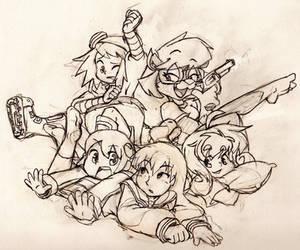 Pile of Girls by Geibuchan