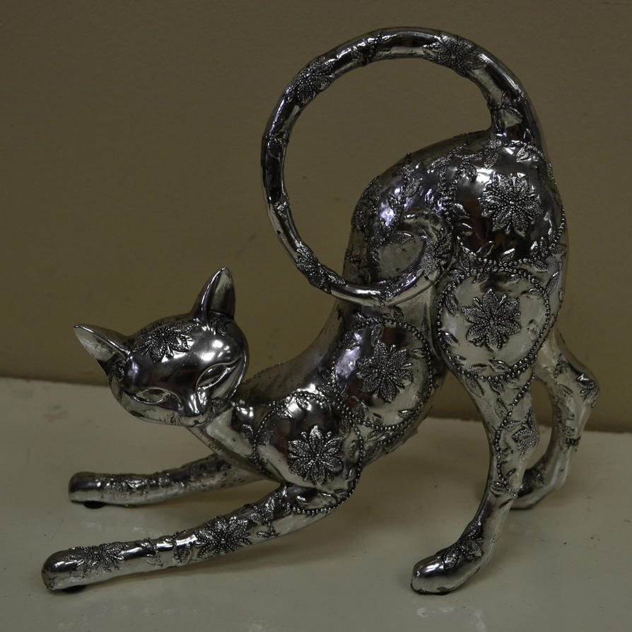 Silver Cat 1 by RecreateStock