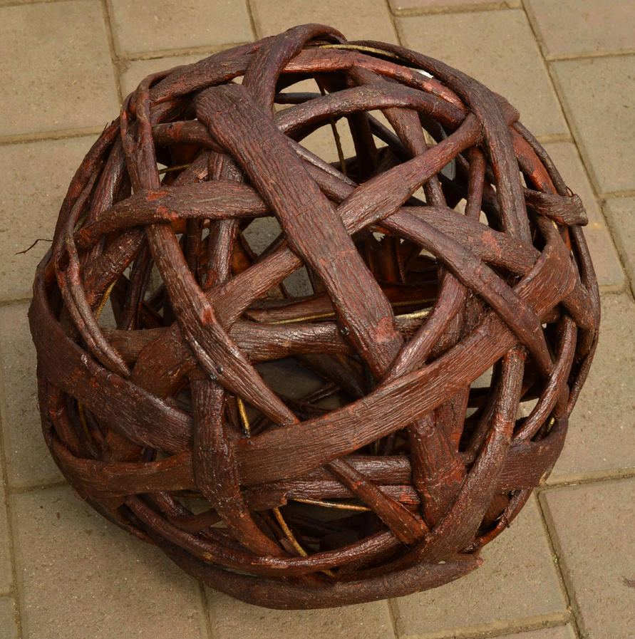 Woven ball by re--creation