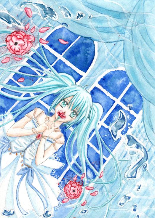 Vocaloid: Blue Miku Hatsune by Ahnung